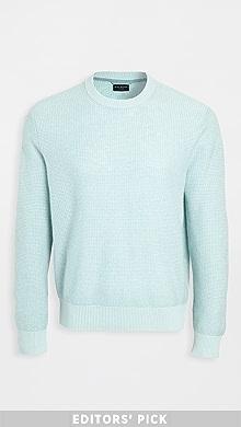클럽 모나코 Club Monaco Cashmere Summer Mesh Crew Sweater,Mint