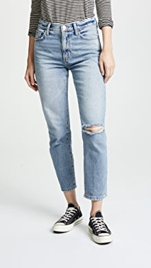 1438444485 Current/Elliott. The Vintage Cropped Slim Jeans