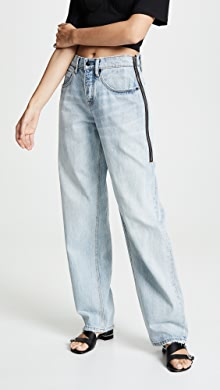 dff1b334734bd 3.1 Phillip Lim Straight Jeans with Zipper