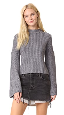 endless rose. Bell Sleeve Sweater