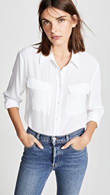 425b4d66189c6 Equipment Slim Signature Blouse
