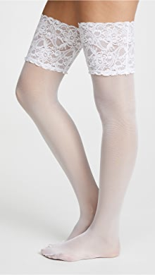 10df751c052bf Commando Sheer Tights with Lace Waistband | SHOPBOP