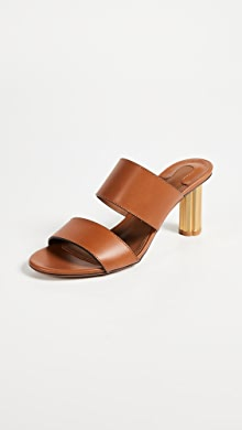Salvatore Ferragamo Belluno Metallic Leather Sandals Gr. US 7.5 Fs6aX0YX
