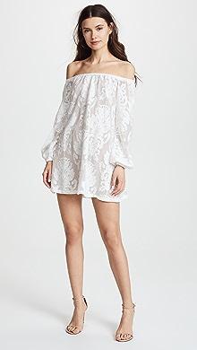 Nightcap spanish lace flutter dress
