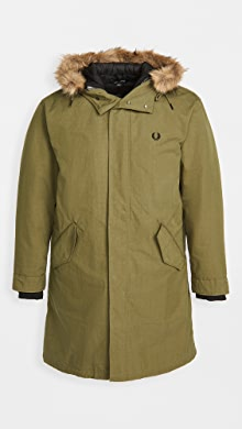 Fred Perry Zip In Liner Parka,British Olive