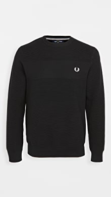 Fred Perry Textured Stripe Sweater