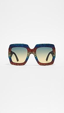 b036940877 Gucci Vintage Web Oversized Sunglasses