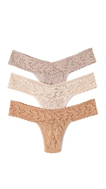 3c4b3c4743 Hanky Panky 3 Pack Signature Lace Low Rise Thong