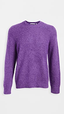 Helmut Lang Brushed Alpaca Crew Neck Sweater,Voltaic Purple