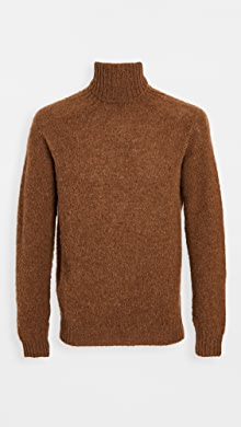 하울링 Howlin Sylvester Wool Turtleneck Sweater,Nuts