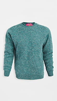 하울링 Howlin Shaggy Bear Wool Sweater,Pacific Green