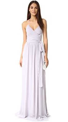 One by contrarian babs bibb maxi dress white