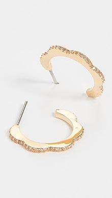 26d3976e1baa0 Kate Spade New York Elegant Edge Huggie Earrings | SHOPBOP