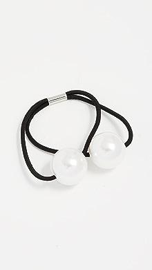 Kitsch Metal Double Bead Hair Tie Set k2Gc6h8