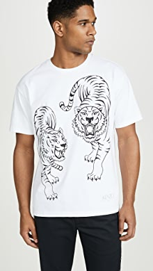 5fab72c0 SOLD OUT · KENZO. Double Tiger Short Sleeve Tee Shirt