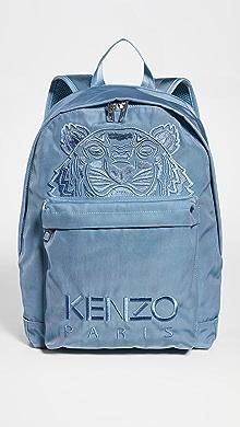 겐조 KENZO Logo Backpack,Glacier