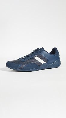 라코스테 Lacoste Hapona Sneakers,Navy/Off White