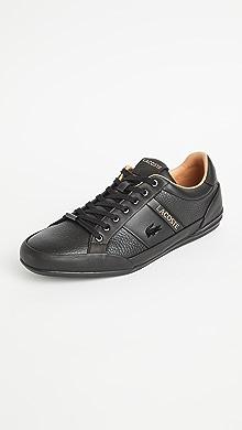 라코스테 Lacoste Chaymon Sneakers,Black/Tan