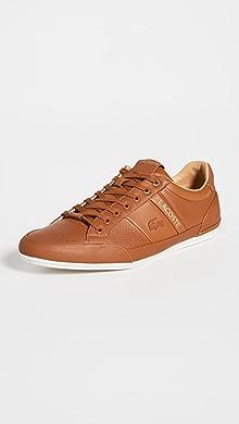 라코스테 Lacoste Chaymon Sneakers,Tan/Off White