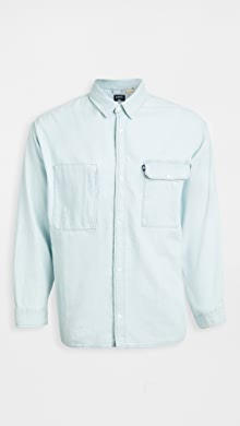 Levis Red Tab Long Sleeve Mountain Over Shirt,Mammoth