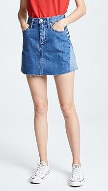 e0652964f4 Madewell. Reconstructed Jean Miniskirt