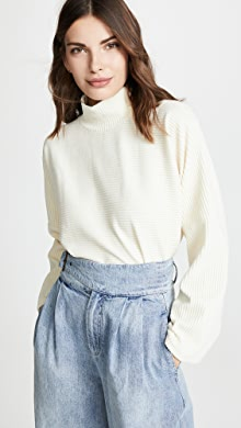 4ee8593a688 Madewell Side Button Turtleneck Sweater