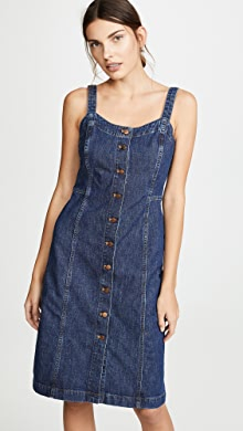 29c85122b0 Madewell. Denim Button Front Tank Dress