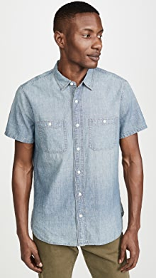 메이드웰 Madewell Classic: Japanese Chambray Shirt,Winterdale Wash