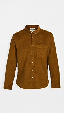 메이드웰 Madewell Corduroy Perfect Button Down Shirt,Dried Cedar