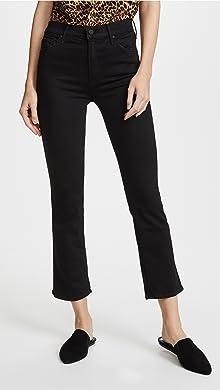 2 Tone Cropped High-rise Straight-leg Jeans - Black Rag & Bone Countdown Package Cheap Price OpMZGH