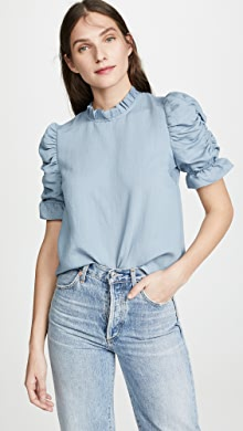 9995c3982b28b Moon River Ruched Sleeve Top