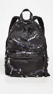 모스키노 Moschino Safety Pin Backpack,Black
