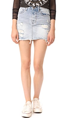 e00e368a14dc2 Free People Step Up Denim Mini Skirt