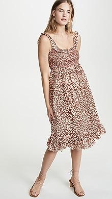 578eee3540b5 Amanda Uprichard Smocked Midi Dress | SHOPBOP