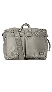 Porter Tanker 3 Way Briefcase,Silver