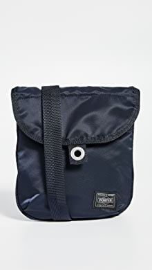 Porter Frame Small Shoulder Bag with Button,Navy