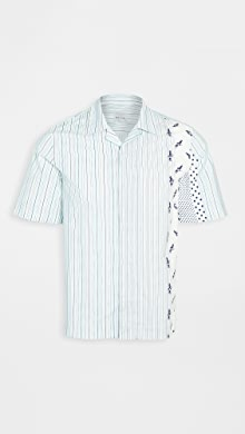 폴 스미스 Paul Smith Multi Stripe Short Sleeve Shirt,Multi