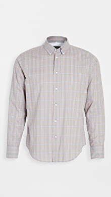 랙앤본 Rag & Bone Fit 2 Plaid Tomlin Shirt,Peach Plaid