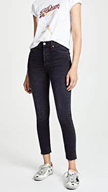 a22564e497c RE/DONE High Rise Ankle Crop Jeans | SHOPBOP