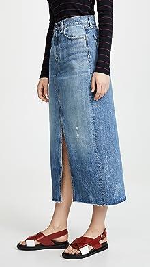 Mid Calf   Tea High Waisted Skirts 1fea97410353