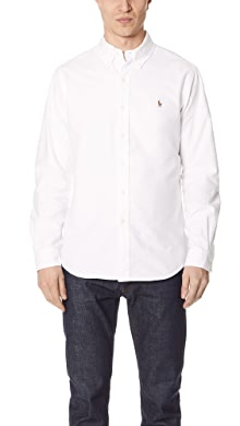 폴로 랄프로렌 Polo Ralph Lauren Standard Fit Oxford Sport Shirt,White