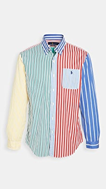 폴로 랄프로렌 Polo Ralph Lauren Long Sleeve Colorblock Shirt,Multi