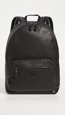 폴로 랄프로렌 Polo Ralph Lauren Smooth Leather Backpack,Black