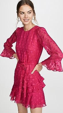 ead689dcbce72 Self Portrait Eyelet Wrap Velvet Mini Dress | SHOPBOP