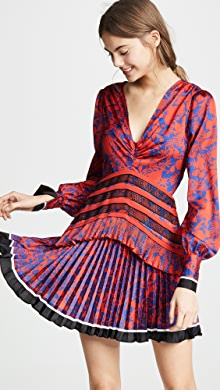 93c514a35a1 Self Portrait Floral Sequin Embroidery Dress