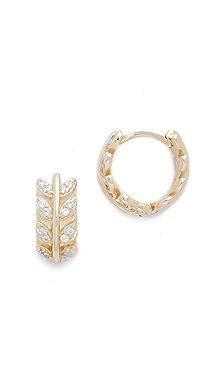 Shashi Bezel Hoop Earrings B6ymk4j5u