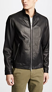 Theory Ladies Black Leather Jacket Size M Online Shop Clothes, Shoes & Accessories