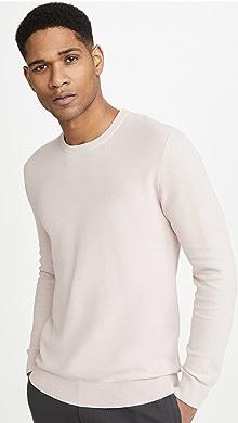 띠어리 Theory Riland Pique Breach Sweater,Pink Mist