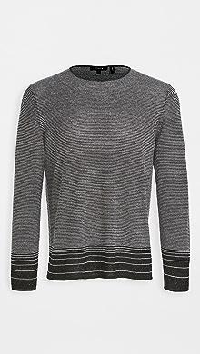띠어리 Theory Guinard C. Fragmented Sweater,Black/White