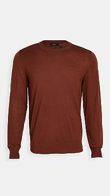 띠어리 Theory Crew Neck Pullover Sweater,Dk Pimento